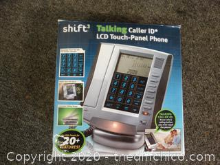 Shift 3 Talking Caller ID LCD Touch-Panel Phone NIB