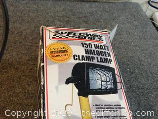 Working 150 Watt Clamp Lamp