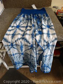 Blue & White Dress XL