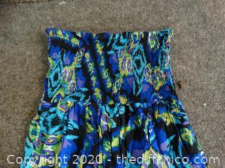 XL Blue Hawaiian Dress