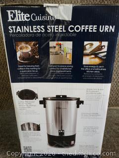 Elite Cuisine  Stainless Steel Coffee URN