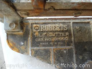 Roberts Tile Cutter