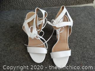 White Charlotte Russe Heels 8
