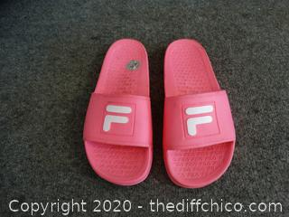 Pink Fila Slides 7