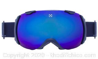 Winterial Ski and Snowboard Goggles, UV Protection, Black (J14)