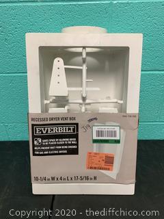 Everbilt Recessed Dryer Vent Box (J19)