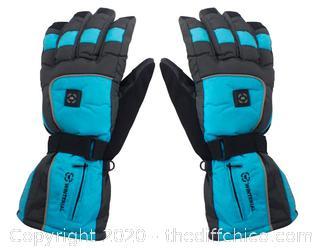 Winterial Heated Snowboard/Ski Gloves - Medium Blue (J23)