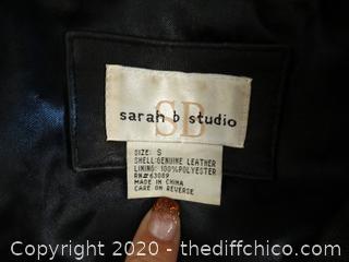 Sarah B Leather Jacket Small