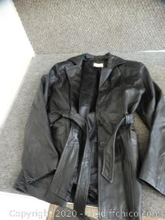 Sarah B Leather Jacket Small