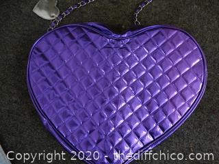 Justin Bieber Purple Heart Purse