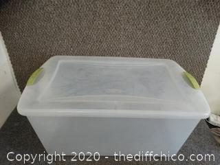 Sterilite Tub with Lid