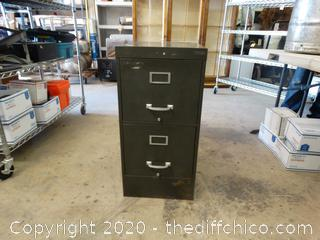 Metal Filing Cabinet With Folders