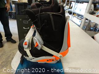 """Rossignol Snow Board With Boots 11 ,    5ft long 10"""" wide"""