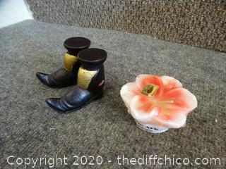 Boot Candles & Flower Candle
