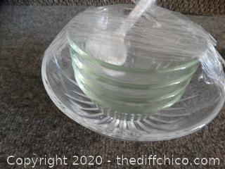 Clear Bowls & Spoon