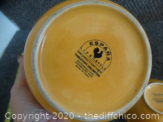 2 Yellow Bowls