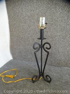 Working Wrought Iron Lamp
