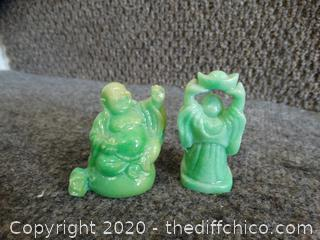 Small Green Staues