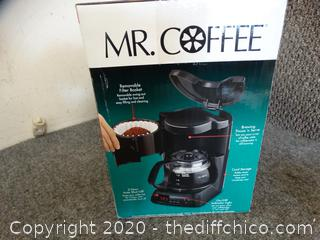 Brand New Mr Coffee 4 Cup Coffee Maker