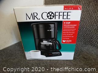 Brand New Mr Coffee 4 Cup Coffee Maker