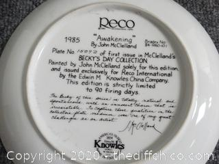 Numbered Awakening  Plate