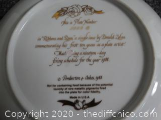 Numbered Ribbons & Roses Plate