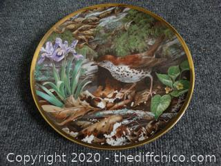 Numbered Wood Thrush Plate