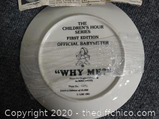 "Numbered ""Why Me ""  Plate"