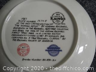 The Shadow Artist Numbered Plate