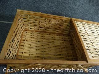 """Wicker Basket 17 1/2"""" x 14"""""""