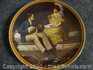 Rockwell's Rediscovered Women Numbered Plate