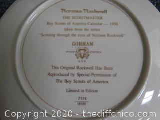 Normal Rockwell The Scoutmaster Numbered Plate