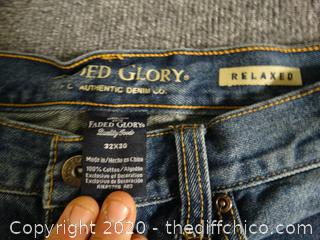Faded Glory Jeans 32x30 Relaxed Fit