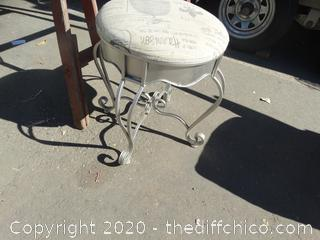 Silver Stool
