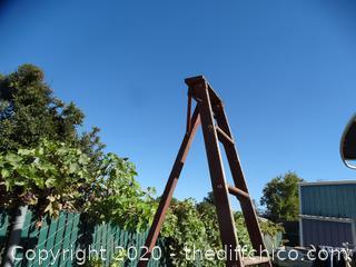 Wooden Orchard Ladder 8'