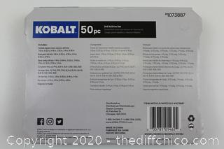 Kobalt 50 Piece Drill & Drive Set w/ Hard Case NEW