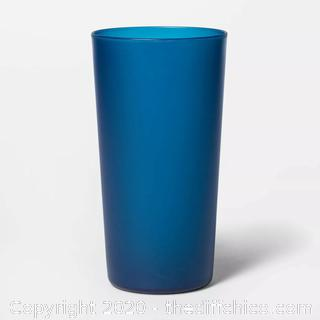 NEW CASEPACK OF 8 - 26oz Blue Plastic Tall Tumbler for Hot & Cold Drinks Very Durable