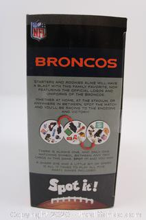 Spot It! Broncos NFL Edition in tin The Match Game