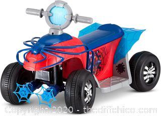 Marvel's Spider-Man Premium Toddler Quad, 6V Ride-On Toy by Kid Trax (KT1283)