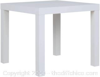 Ameriwood Home Parsons, White End Table