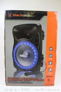 "($149) Blackweb 1500-Watt Light-Up Pa Speaker W/15"" SUBWOOFER"