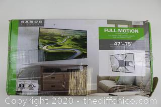 """($120)  SANUS VuePoint Full-Motion TV Wall Mount For 47""""-75"""" TVs"""