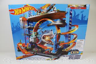 ($189) Hot Wheels City Ultimate Garage with Shark Attack