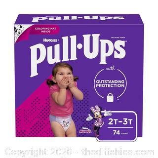 NEW SEALED Pull-Ups Learning Designs Girls' Training Pants, 2T-3T, 74 Ct 2T-3T (74 Count)