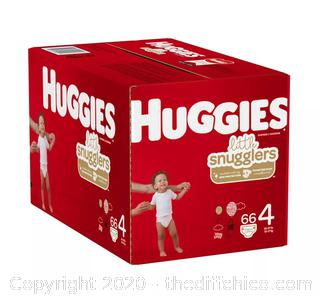 NEW SEALED Huggies Little Snugglers Diapers SIZE 4 (66CT)