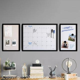 "NEW 3pc 11"" x 17"" Organization Center - Calendar, Dry Erase & Bulletin Boards"