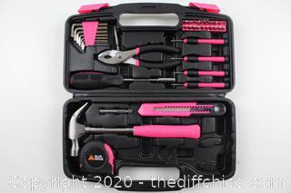 Blue Ridge Tools 40pc Household Tool Pink