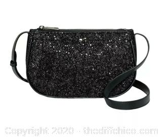 Women's brand new with tags A New Day black sparkle purse with shoulder strap