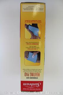 Sunbeam Moist / Dry Heat Heating Pad With UltraHeat Technology 3 Heat-Settings
