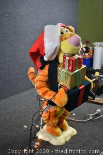 Working 26in tall Christmas Tiger